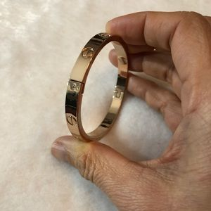 Jewelry - NWOT | Rose Gold Plated Simplicity Cuffed Bangle